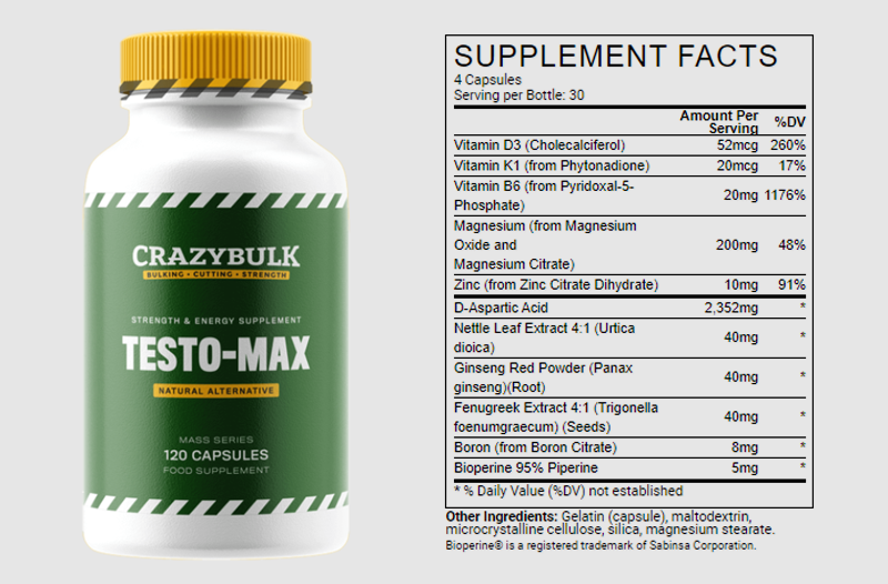 testo-max-Ingredients
